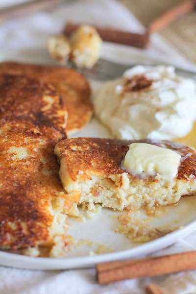 Snickerdoodle Paleo Pancakes