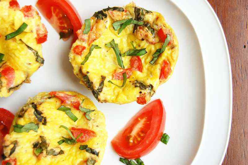 Tomato and Basil Egg Muffins