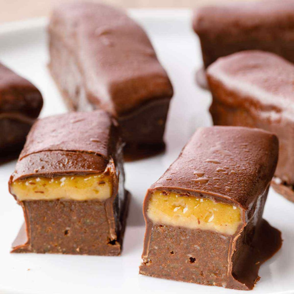 Homemade Paleo Milky Way Candy Bars