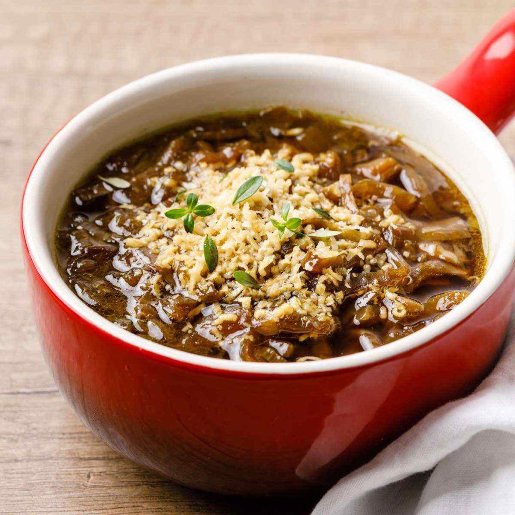 Crockpot Paleo French Onion Soup