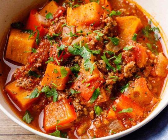 Slow Cooker Sweet Potato Paleo Chili