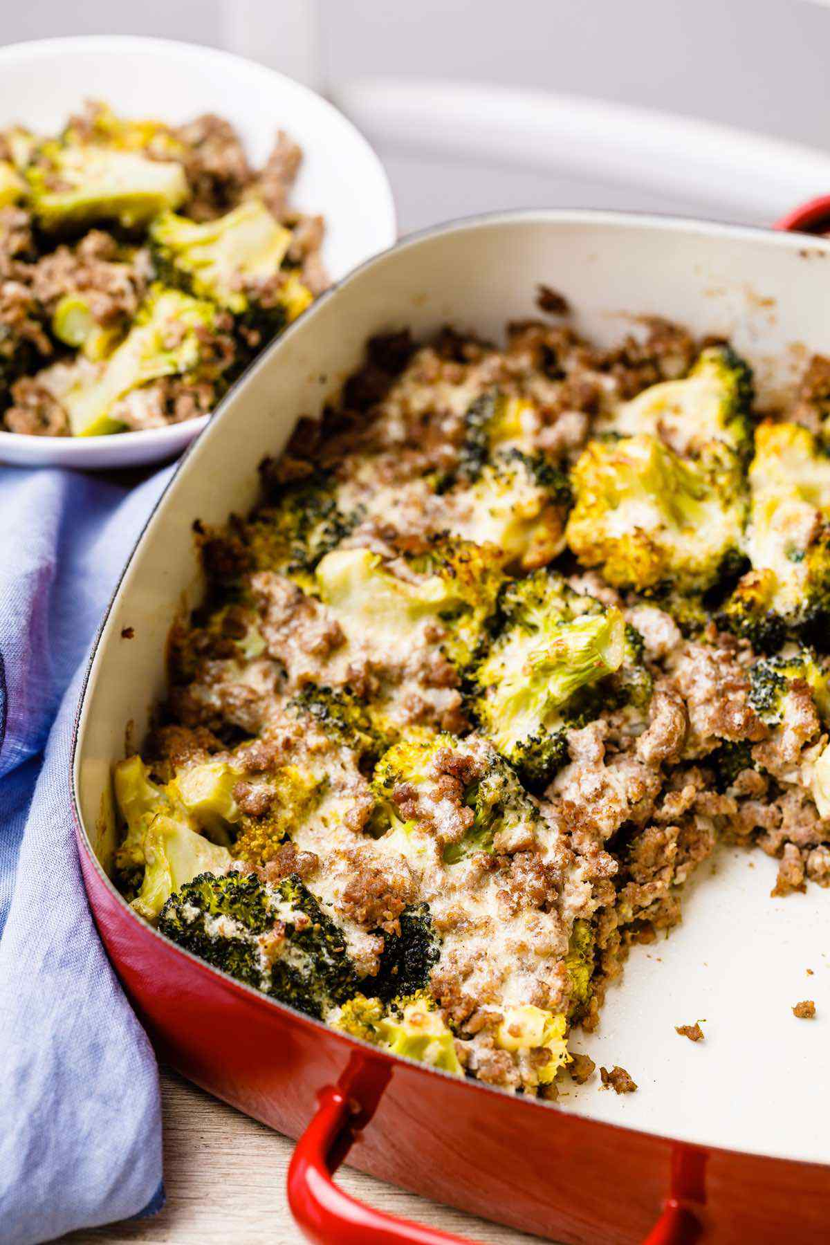 Paleo Broccoli Ground Beef Casserole