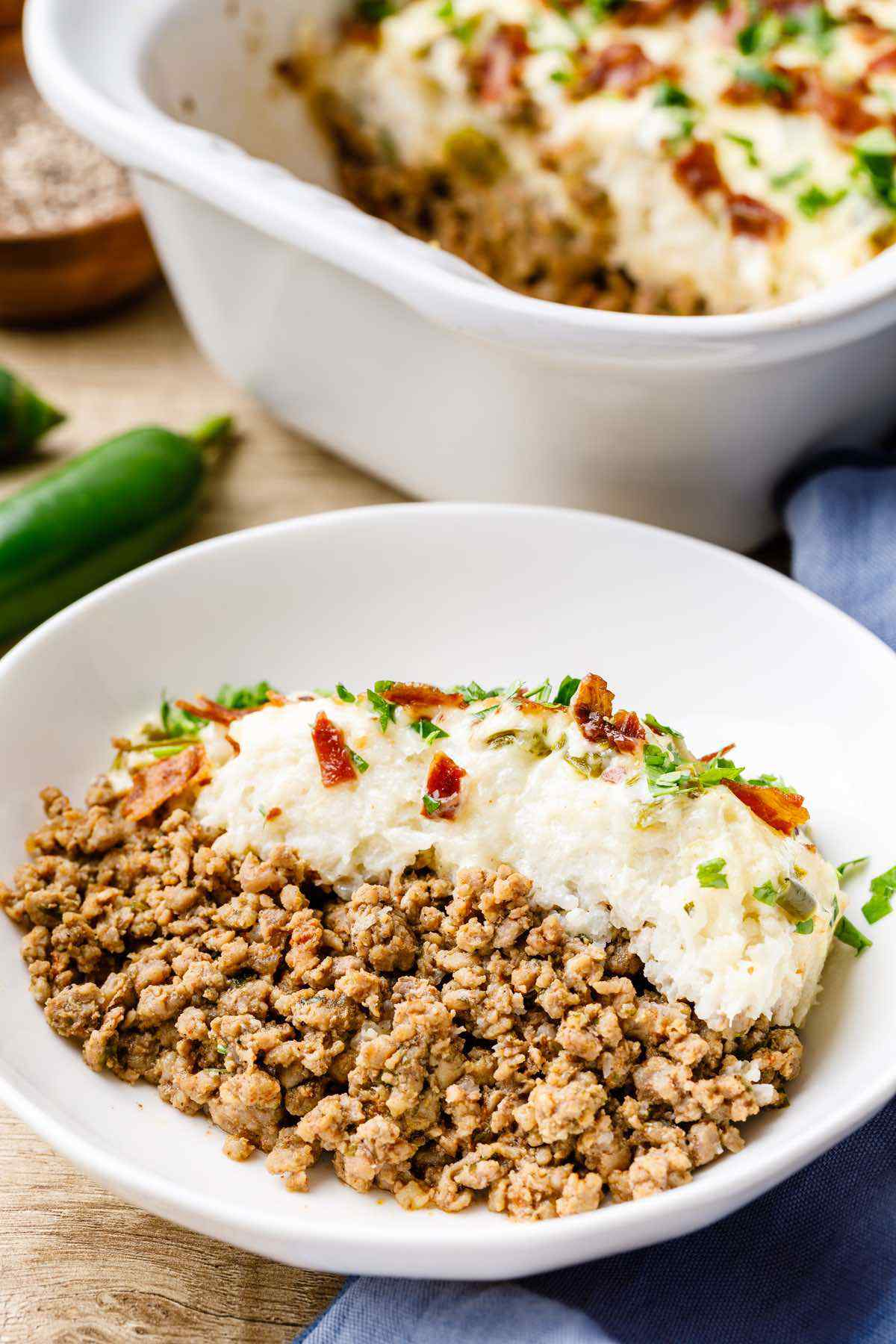 Paleo Stuffed Jalapeno Ground Beef Casserole