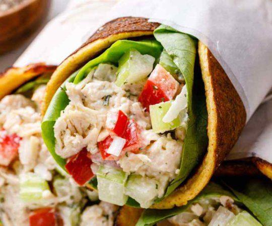 Paleo Chicken Salad Ranch Wraps