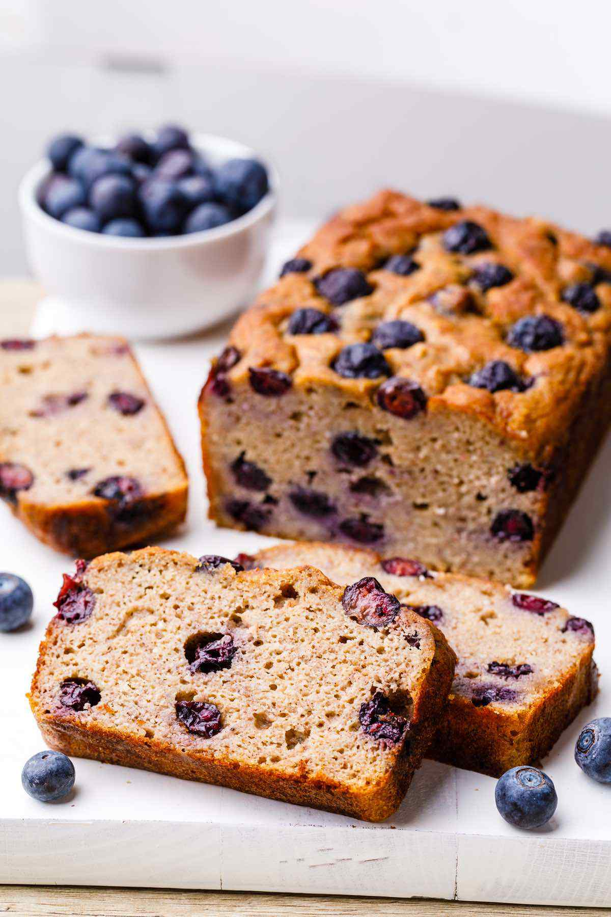 Paleo Blueberry Banana Bread