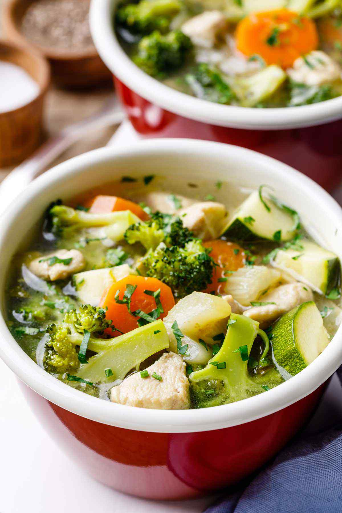 Paleo Instant Pot Chicken Vegetable Soup