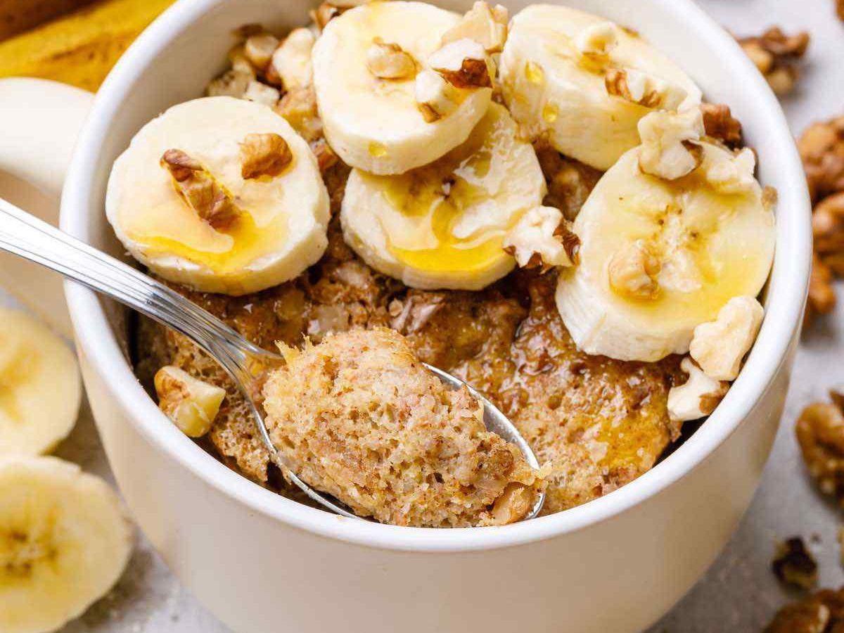Easy And Addictive Cinnamon Banana Bread Mug Cake Yum Paleo Grubs