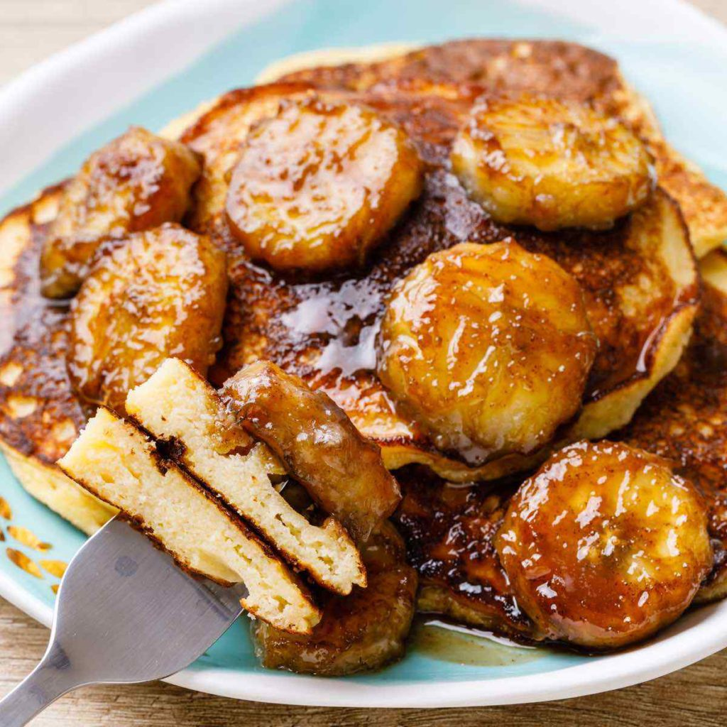 aleo Bananas Foster Pancakes