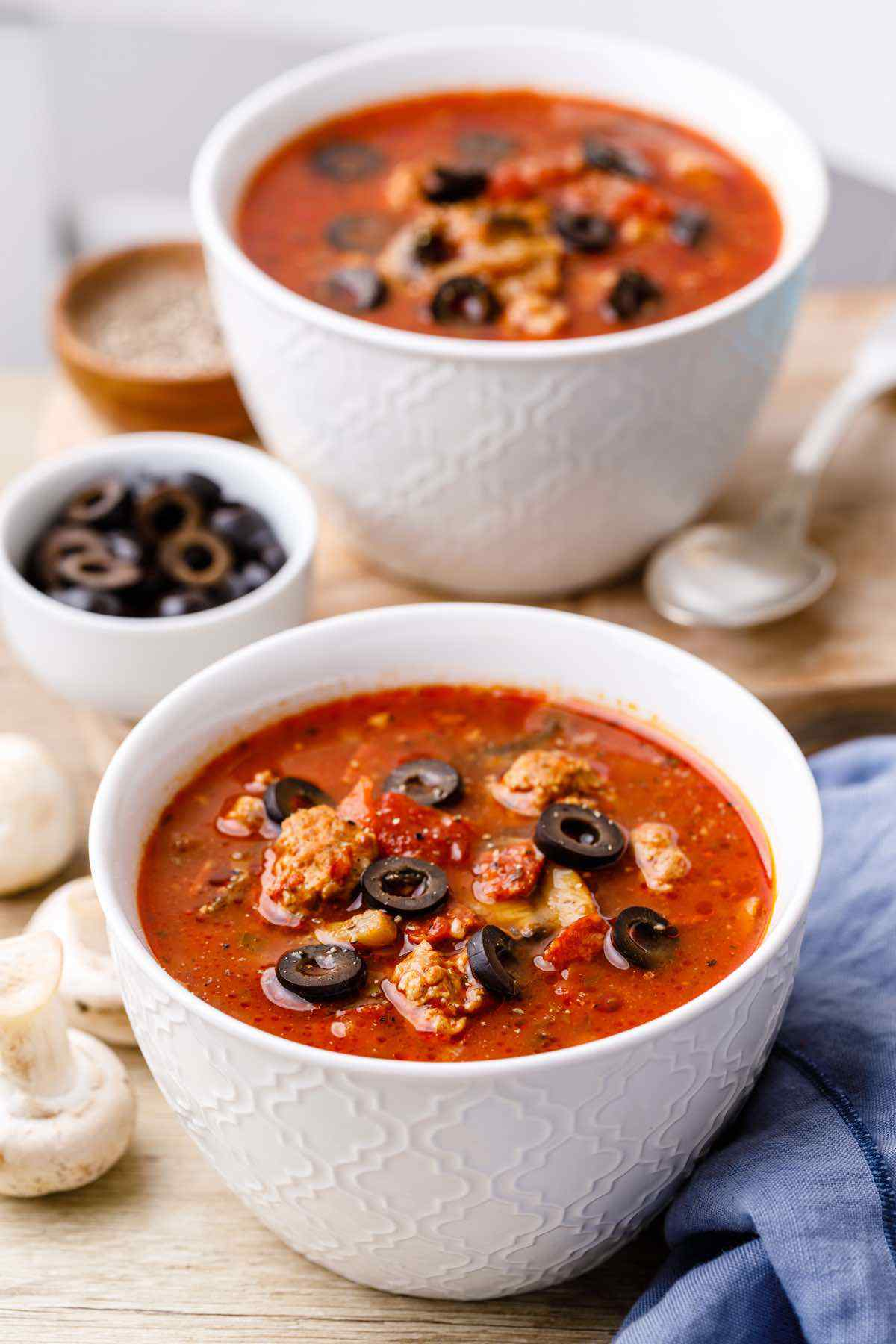 Paleo Instant Pot Sausage Pizza Soup