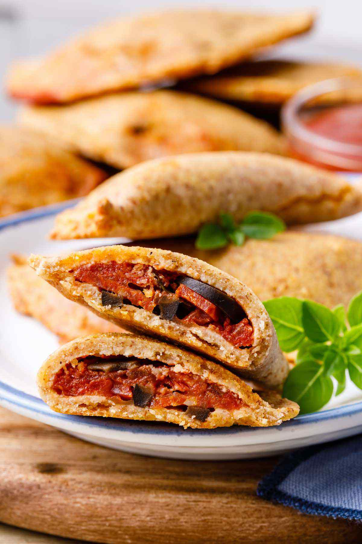 Paleo Pepperoni Pizza Pockets