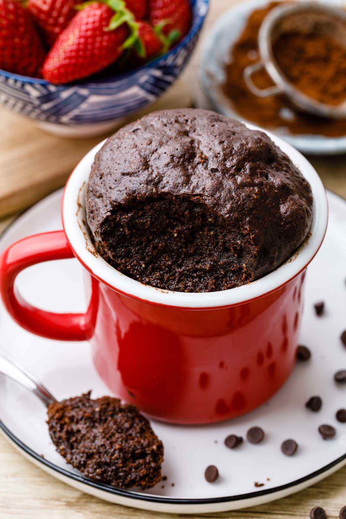 Fudgy Paleo Brownie in a Mug