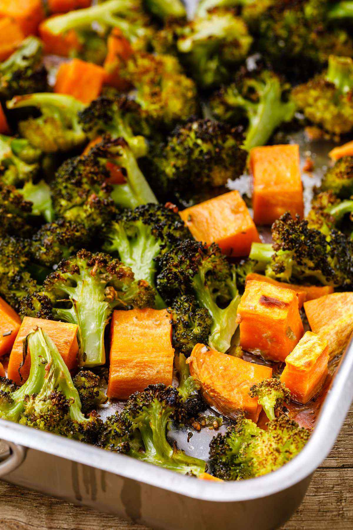 Sheet Pan Roasted Broccoli and Sweet Potatoes