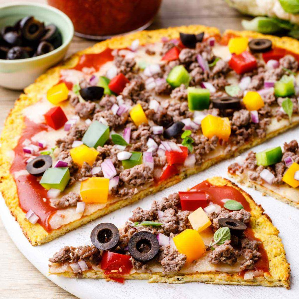 Low Carb Paleo Cauliflower Pizza Crust