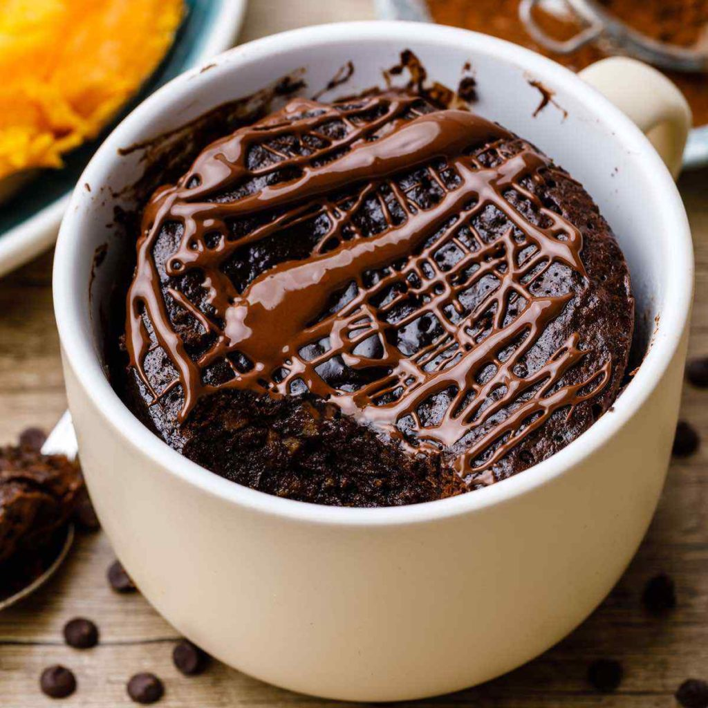 Double Chocolate Sweet Potato Brownies In A Mug Paleo Grubs