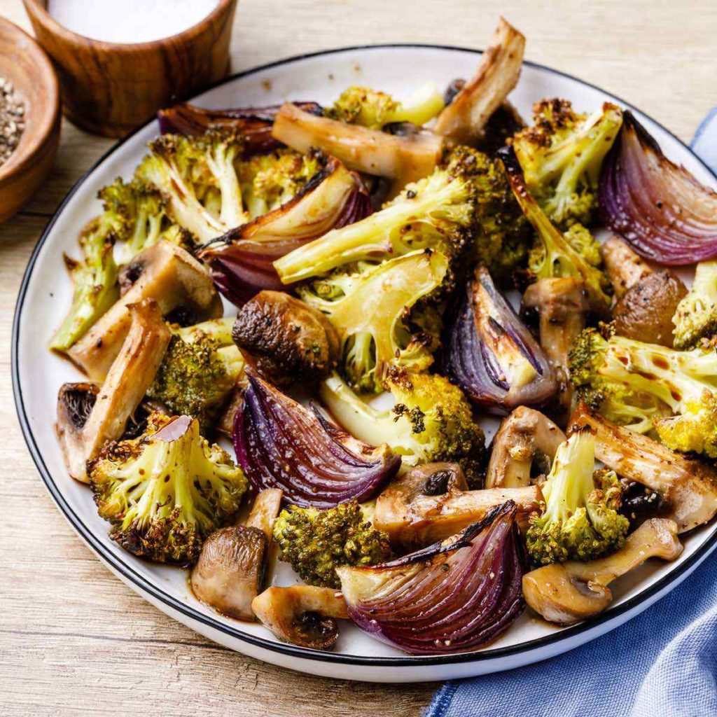Roasted Broccoli and Mushrooms