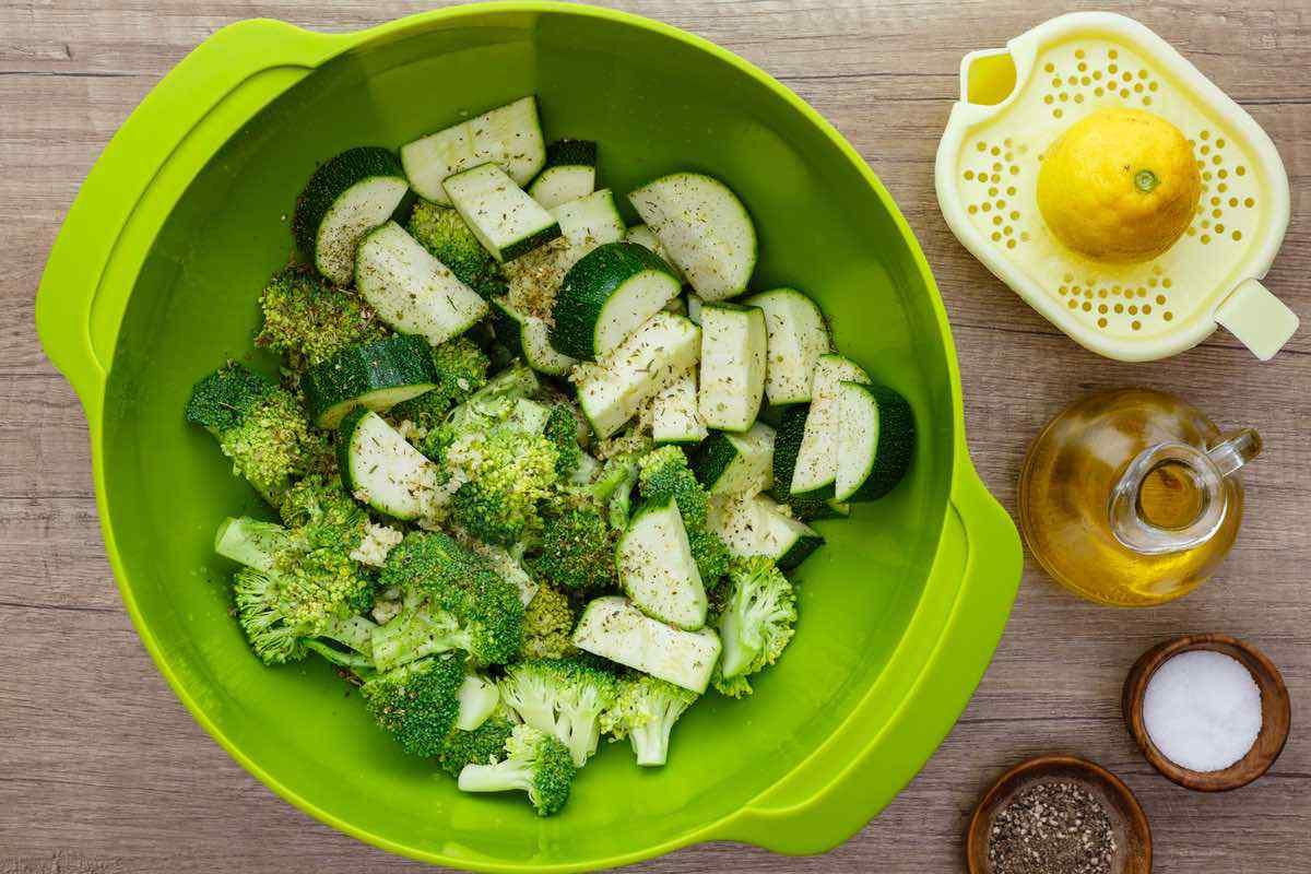 Sheet Pan Roasted Broccoli and Zucchini