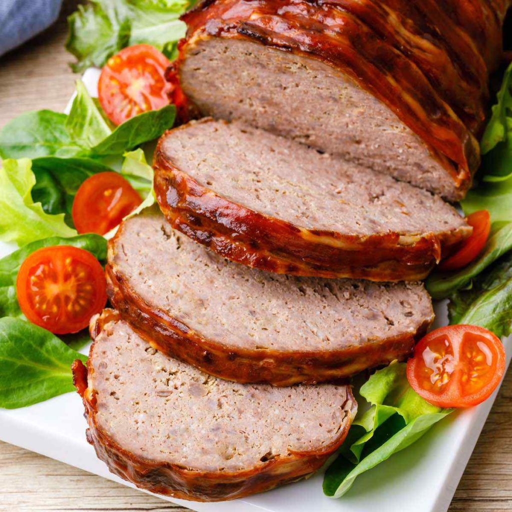 Bacon-Wrapped BBQ Paleo Meatloaf