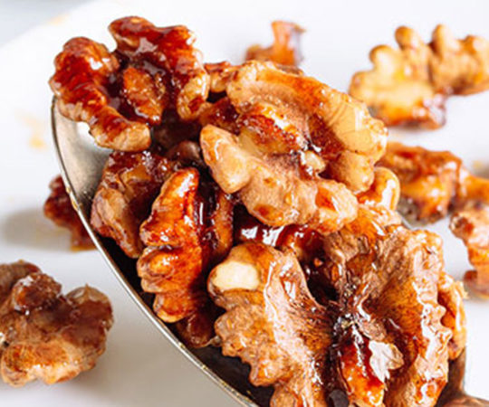 Cinnamon and Honey Roasted Walnuts