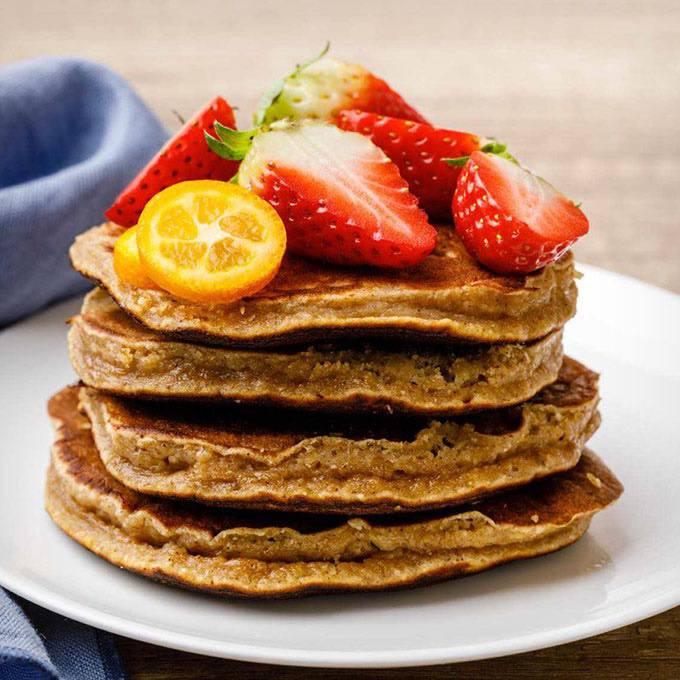 Banana Nut Protein Pancakes