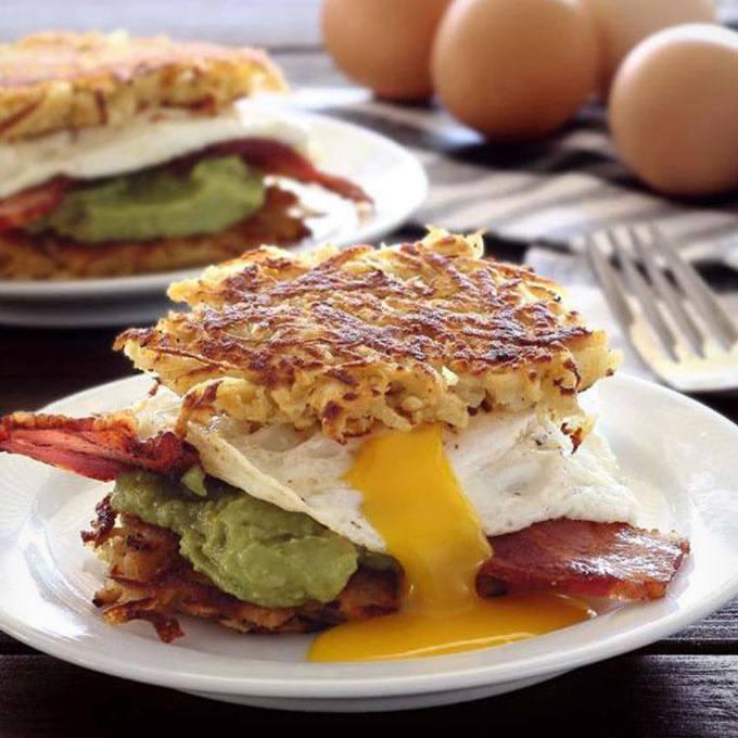 Breakfast Hash Brown Sliders