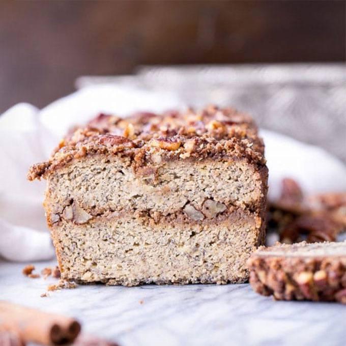 Home.fit Cinnamon-Streusel-Banana-Bread 61 Easy Paleo Bread Recipes