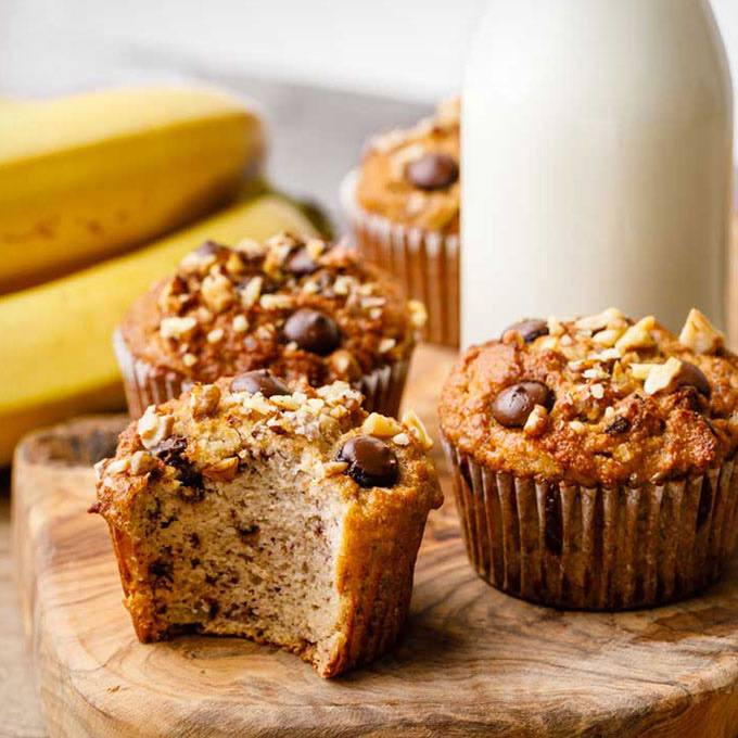 Coconut Flour Banana Breakfast Muffins