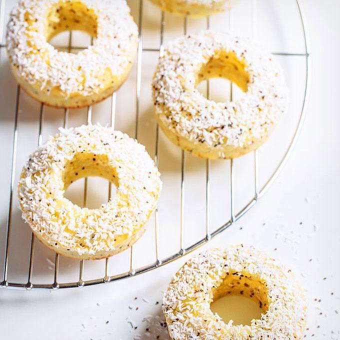 Lemon Poppy Seed Baked Donuts