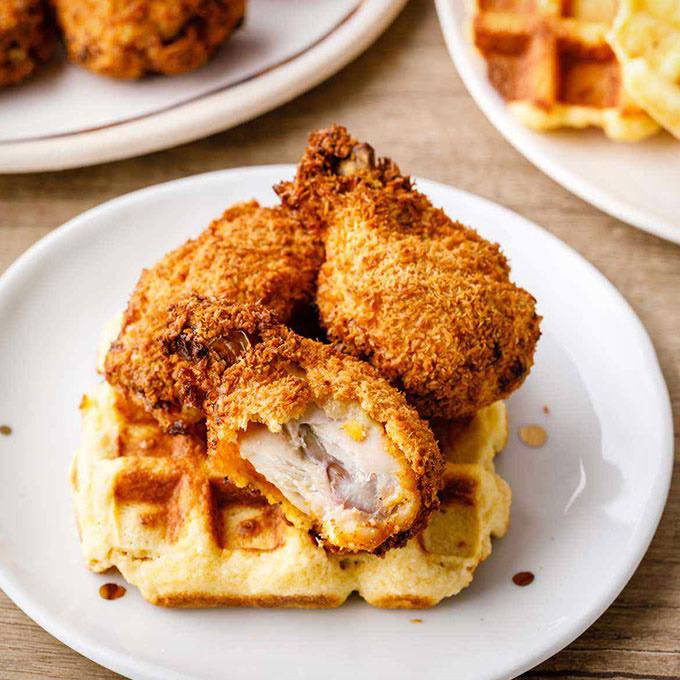 Paleo Chicken Wings and Waffles