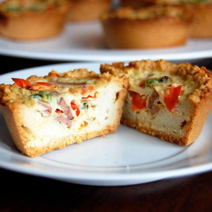 Paleo Mini Quiche with Almond Flour Crust