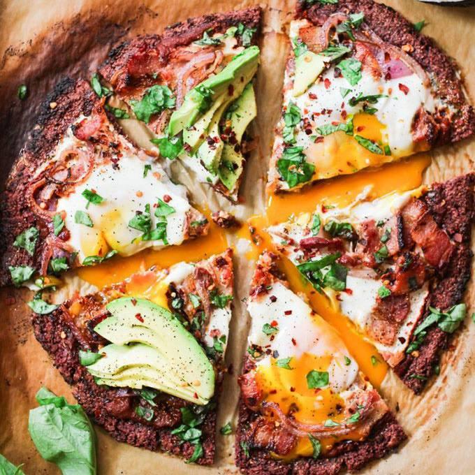 Sweet Potato Crust Paleo Breakfast Pizza