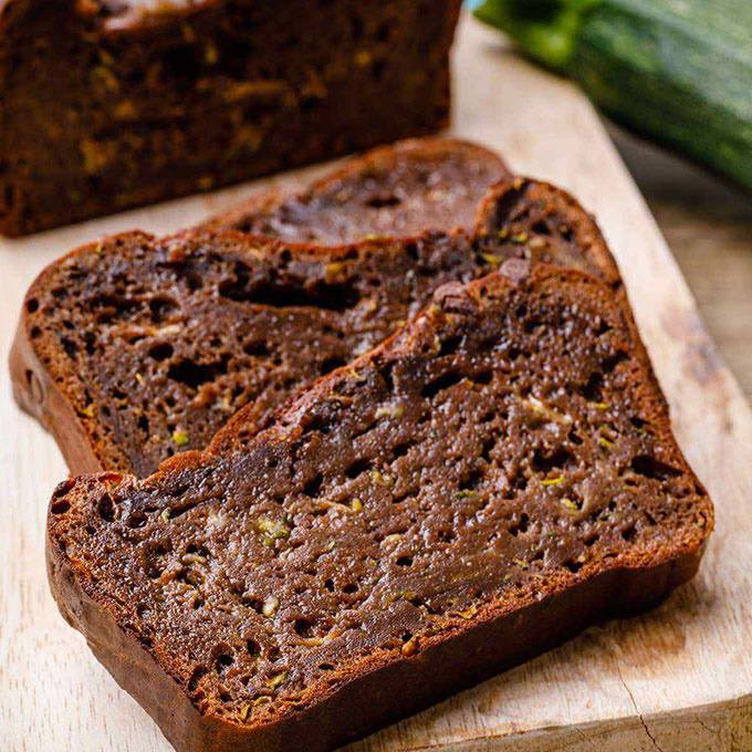 Home.fit Zucchini-Brownie-Bread 61 Easy Paleo Bread Recipes