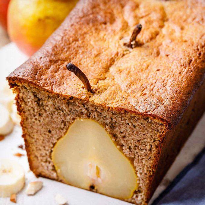 10-Minute Pear Banana Bread