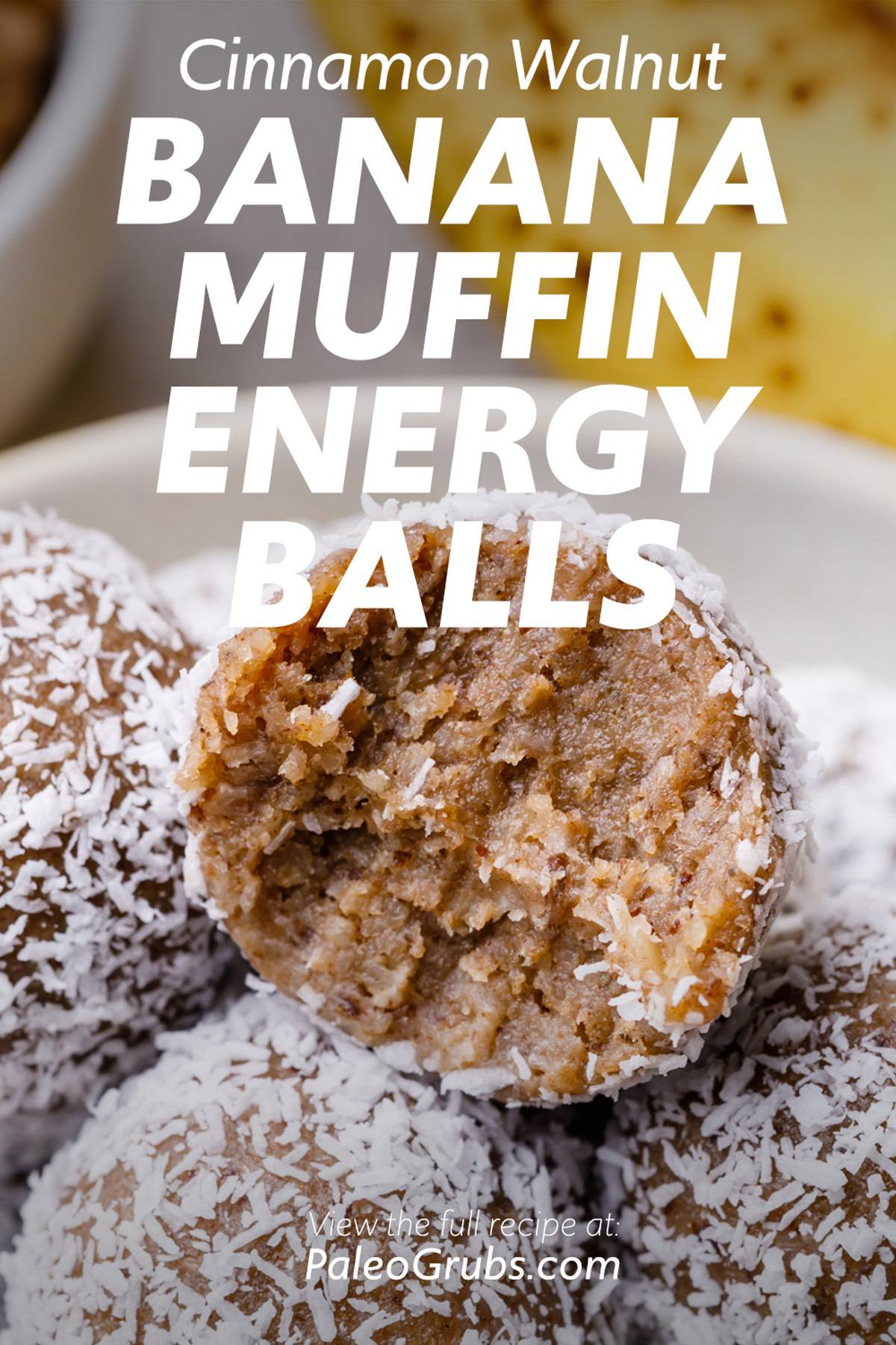 Cinnamon Walnut Paleo Banana Muffin Honey Balls