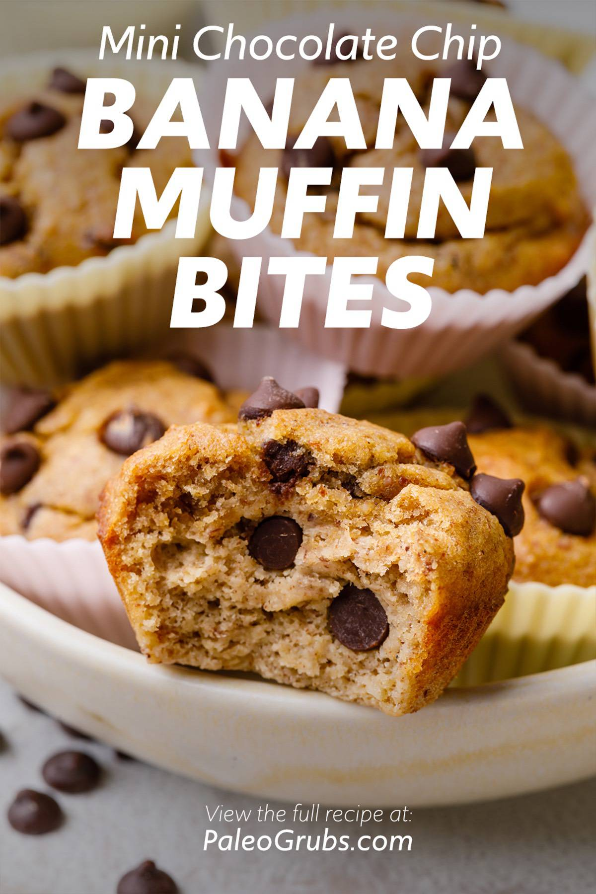 Mini Chocolate Chip Banana Muffin Bites
