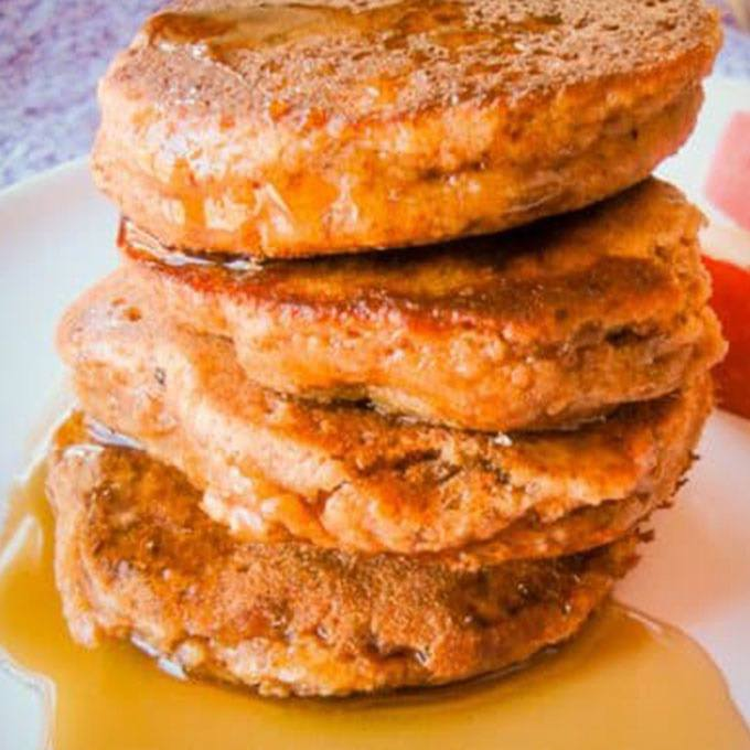 Almond Apple Grain Free Pancakes