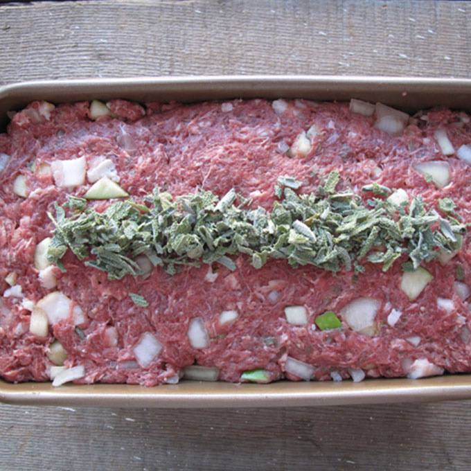 Apple and Sage Elk Meatloaf