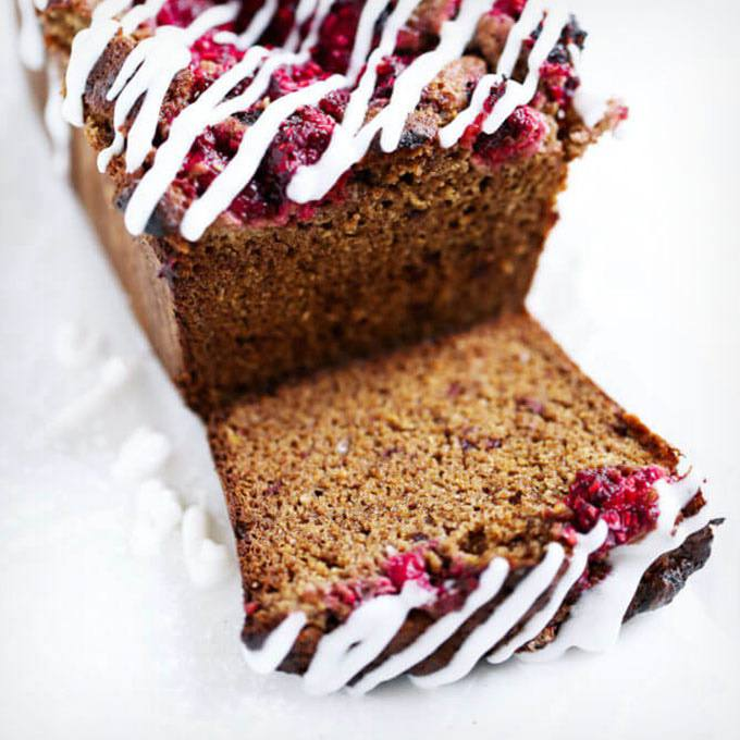 Banana Raspberry Bread