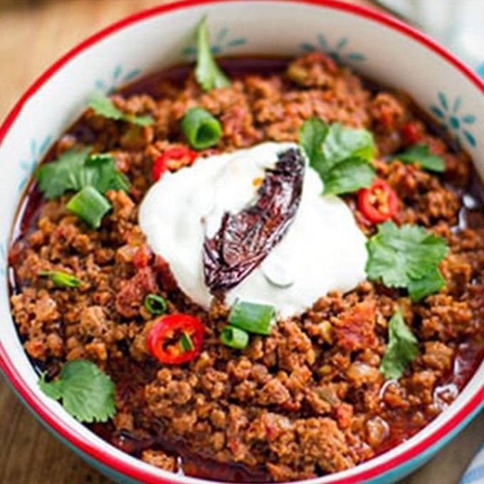 Chili Con Carne with Beef Chorizo