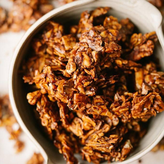 Home.fit Chocolate-Sea-Salt-Paleo-Granola 23 Homemade Paleo Granola Recipes for an Easy Breakfast