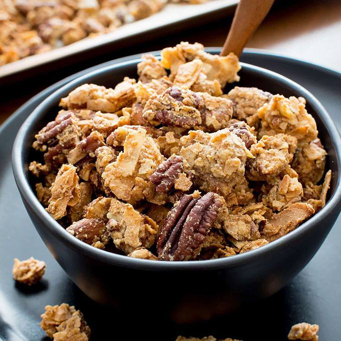 Chunky Paleo Granola with Clusters