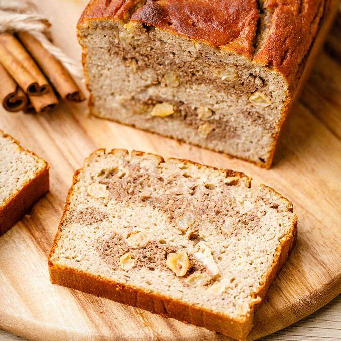 Home.fit Cinnamon-Swirl-Banana-Bread 29 Easy Paleo Banana Bread Recipes (Try these!)