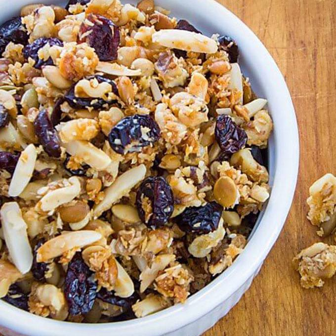 Cranberry Walnut Paleo Granola