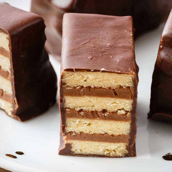 Crunchy Homemade Paleo Kit Kat Candy Bars