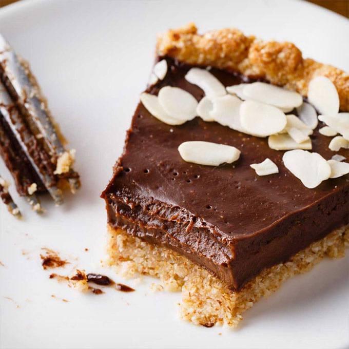 Dark Chocolate Paleo Pie with Homemade Crust