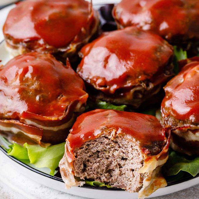 Easy Bacon-Wrapped Paleo Meatloaf Muffins