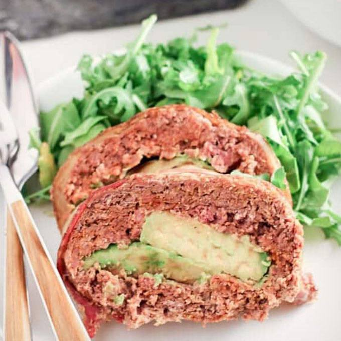 Easy Mexican Meatloaf with Chorizo & Avocado
