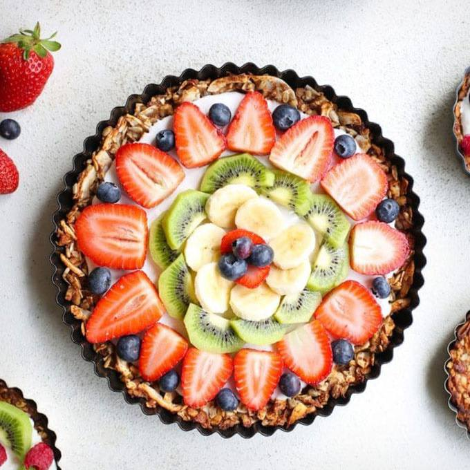 Fruity Paleo Granola Breakfast Pizza