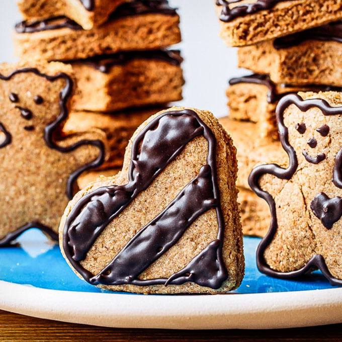 Gingerbread Cookies with Chocolate Icing