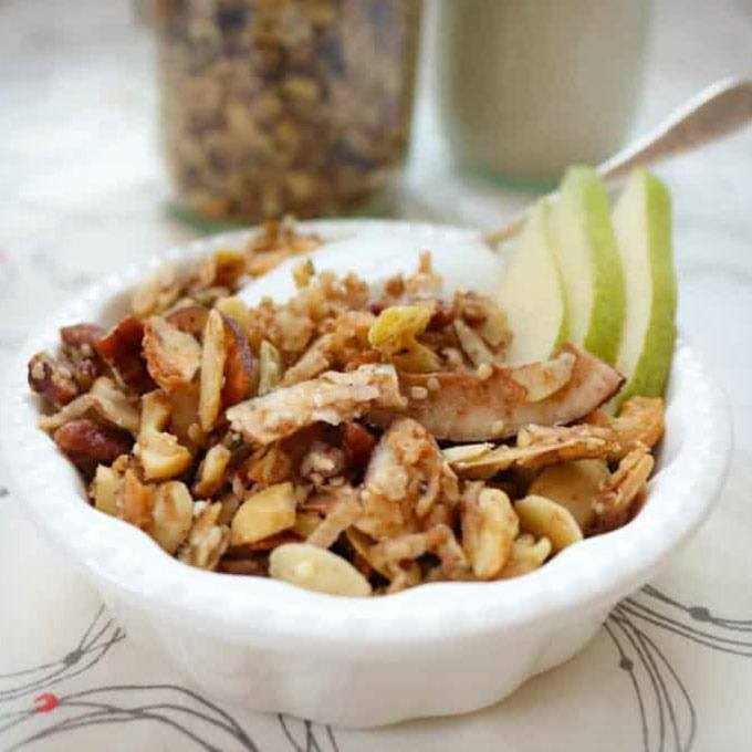 Grain-free Coconut Cardamom Granola