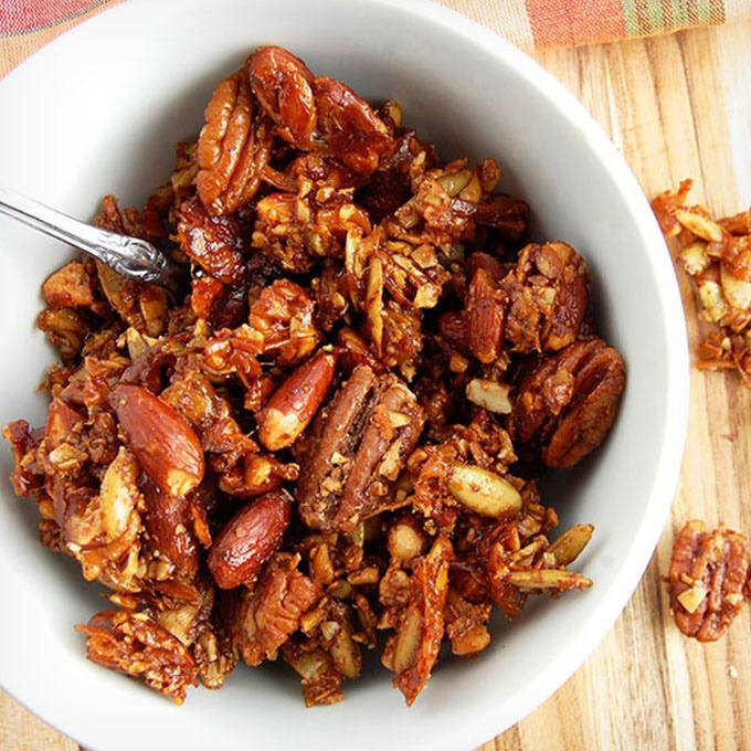 Homemade Gingerbread Paleo Granola